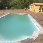 Piscine Style de LPW POOLS - piscine avec escalier roman en cours de chantier