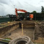 Construction piscine privée LPW par Be-Pool avec drain